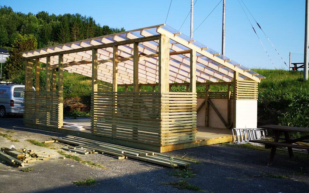 Bygging av pergola
